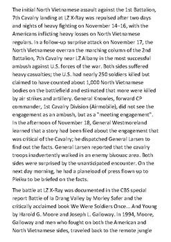 The Battle of Ia Drang Handout