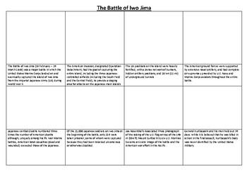 The Battle of Iwo Jima Comic Strip and Storyboard