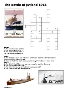 The Battle of Jutland Cross Word - World War One