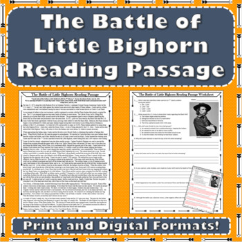 The Battle of Little Bighorn Primary Source Reading Passage - Westward Expansion