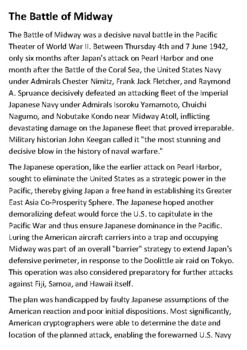 The Battle of Midway Handout
