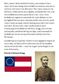 The Battle of Perryville Handout