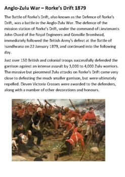 The Battle of Rorke's Drift Handout