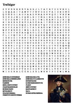 The Battle of Trafalgar Word Search