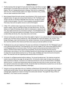 The Battle of Yorktown - Grade 6