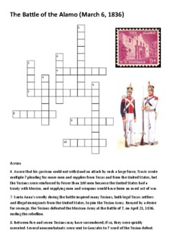 The Battle of the Alamo Crossword