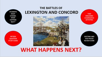 The Battles of Lexington and Concord:  What Happens Next?