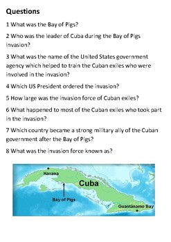 The Bay of Pigs Handout