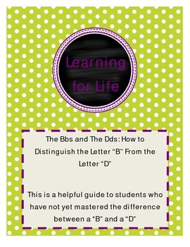 The Bbs and The Dds: How to Distinguish the Letter B from the Letter D