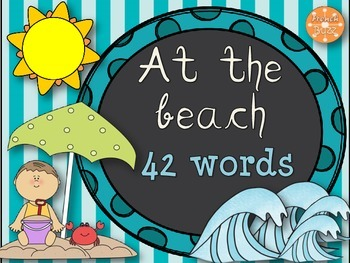 The Beach - 42 word wall vocabulary