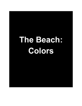 The Beach: COLORS - Adapted Book