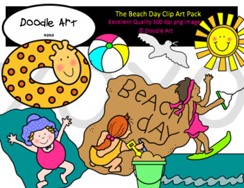 The Beach Day Clipart Pack