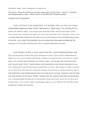 The Bean Trees Body Paragraphs (Comparing Two Writing Samples)