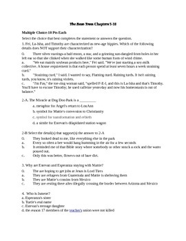 The Bean Trees Quiz Chapters 5-10