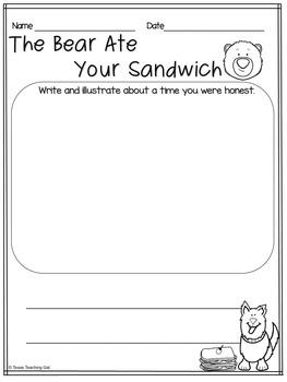The Bear Ate Your Sandwich Read Aloud Printables Activities
