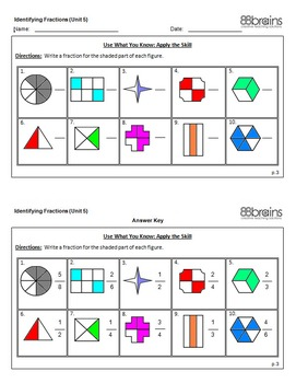 """The """"Bear"""" Facts About Fractions: Identifying Fractions - File Folder Game CCSS"""