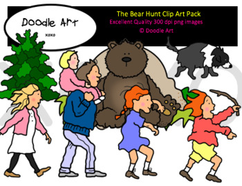 The Bear Hunt Clipart Pack