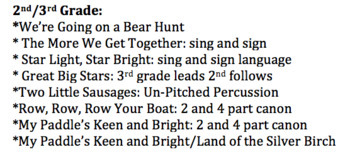 The Bear Hunt: Program Only