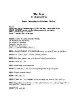 "The Bear - Readers Theater adaption of Chekhov's ""The Bear"""