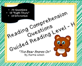 """The Bear Snores On"" - 20 Reading Comprehension questions with key"