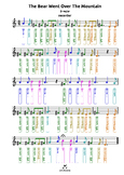 The Bear Went Over The Mountain (D) tabs4 recorder ocarina
