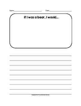 The Bear Writing Activities