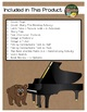 The Bear and the Piano by Litchfield 14 Book Extension Activities NO PREP