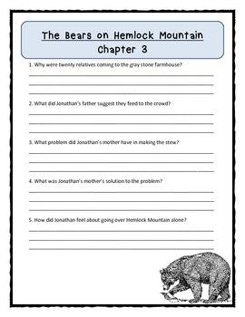 THE BEARS ON HEMLOCK MOUNTAIN Alice Dalgliesh - Comprehension & Text Evidence