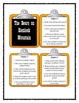 The Bears on Hemlock Mountain - Discussion Cards