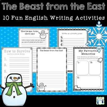The Beast From The East - English Writing Activities