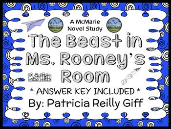The Beast in Ms. Rooney's Room (Patricia Reilly Giff) Novel Study (25 pages)