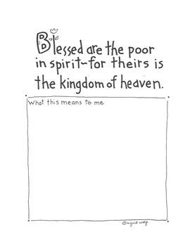 The Beatitudes Booklet