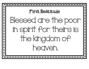 The Beatitudes Bulletin Board Set