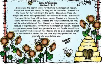 The Beatitudes:  Children's Message, Activities & Crafts