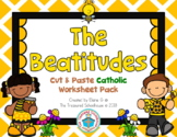 The Beatitudes Cut & Paste Worksheet Pack - Catholic