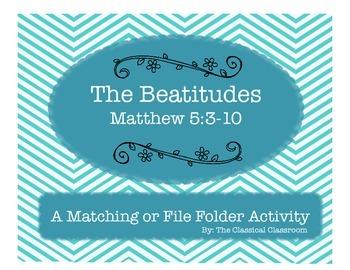 The Beatitudes File Folder