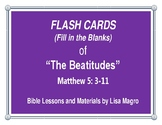 """""""The Beatitudes"""" Fill in the Blank Flash Cards (8.5x11) ."""
