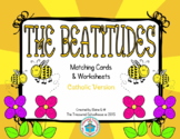 The Beatitudes Matching Cards and Worksheets - Catholic
