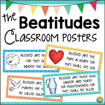 The Beatitudes Posters Bulletin Board Set And Worksheets