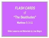 """The Beatitudes"" Flash Cards (8.5 x 11).  Print & Learn!"