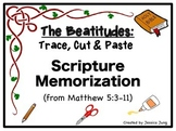 Beatitudes: Trace, Cut & Paste Scripture Memorization