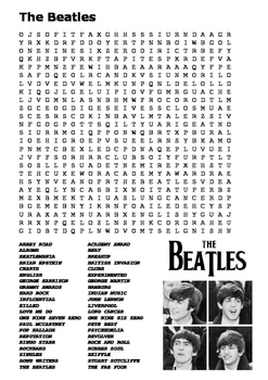 The Beatles Word Search