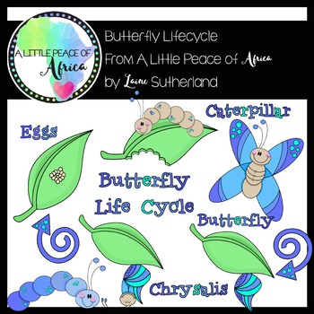 The Beautiful Butterfly Life Cycle Clip Art Collection
