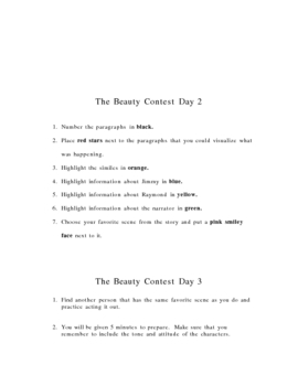 The Beauty Contest by Gary Soto Close Reading
