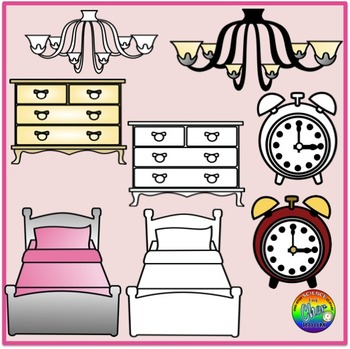 Bedroom Clipart (My Home Series I)