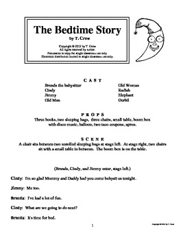 The Bedtime Story, an elementary play