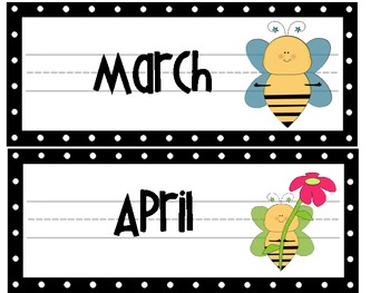 The Bee Hive Calendar Toppers