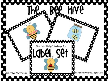 The Bee Hive Editable  Label Set