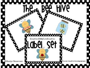 The Bee Hive Editable  Label Set