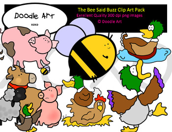 The Bee Said Buzz Clipart Pack